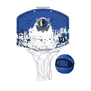 Wilson NBA TEAM MINI HOOP DALLAS MAVERICKS, tabla s obručem, plava