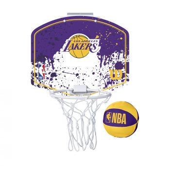 Wilson NBA TEAM MINI HOOP LA LAKERS, tabla s obručem, ljubičasta