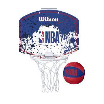 Wilson NBA TEAM MINI HOOP NBA, tabla s obručem, bijela