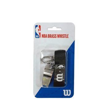 Wilson NBA BRASS WHISTLE WITH LANYARD, zviždaljka, srebrna