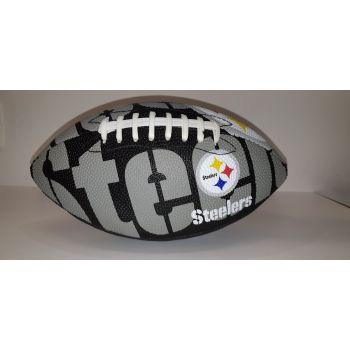 Wilson NFL TEAM LOGO - STEELERS, lopta za američki nogomet, siva