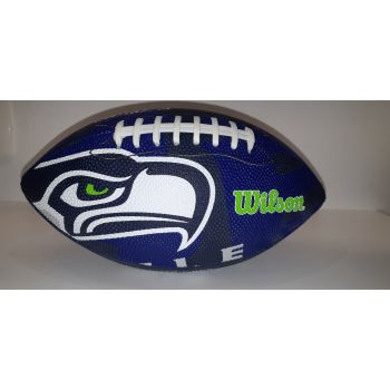 Wilson NFL TEAM LOGO - SEA HAWKS, lopta za američki nogomet, plava