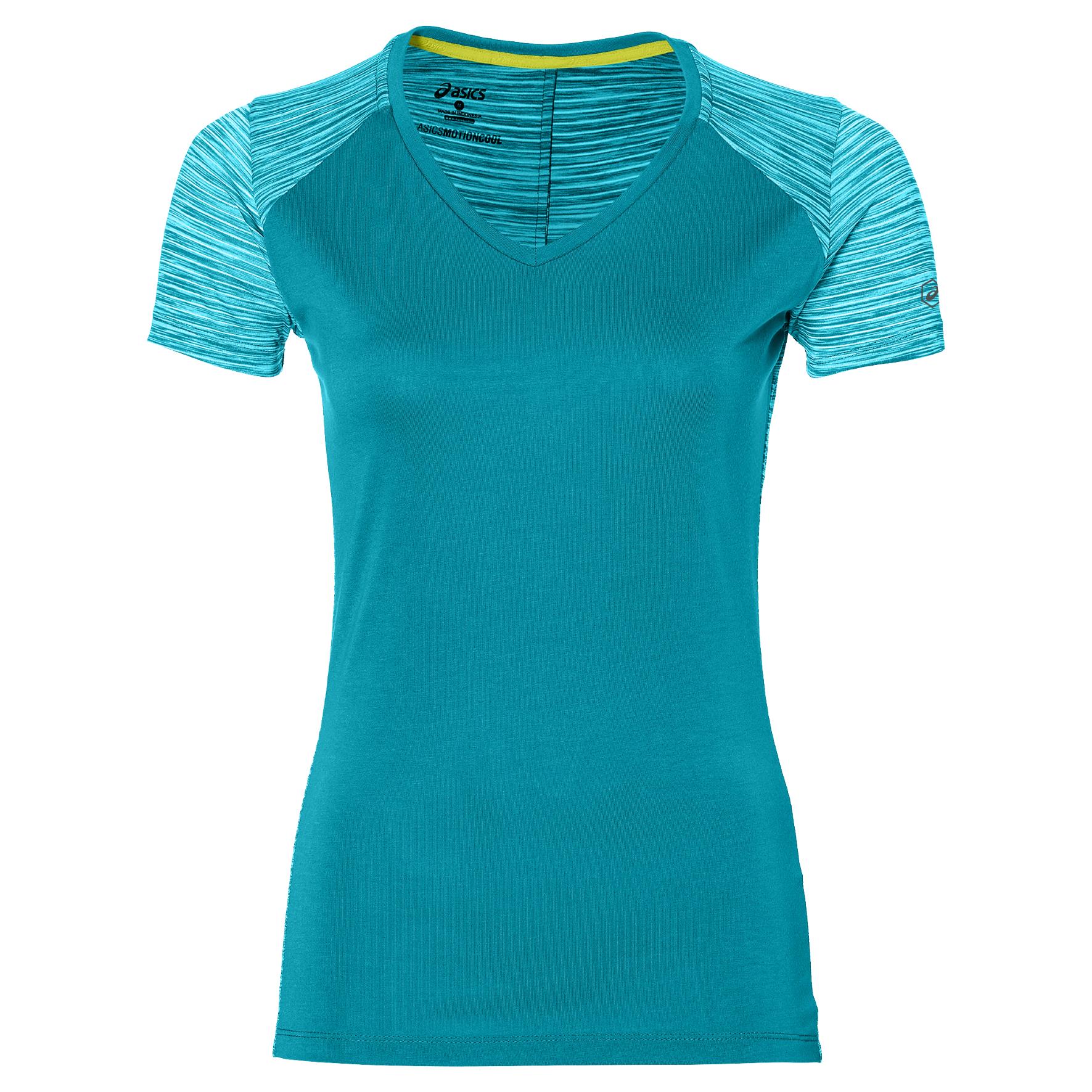 Asics FUZEX V NECK, ženska majica za trčanje, plava