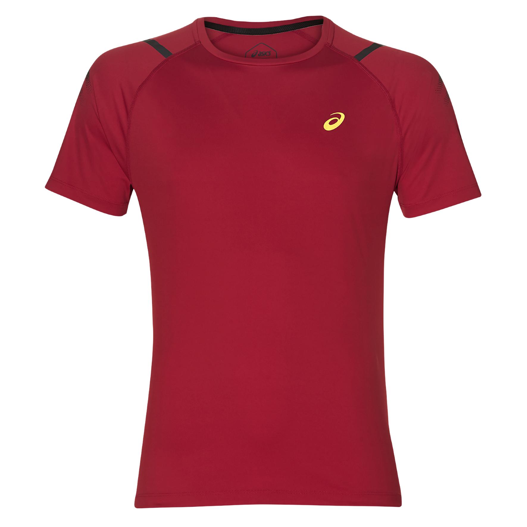Asics 2011A259, muška majica za trčanje, crvena