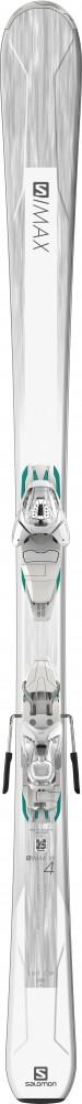 Salomon S/MAX W 4 + LITHIUM 10, set skije, bijela