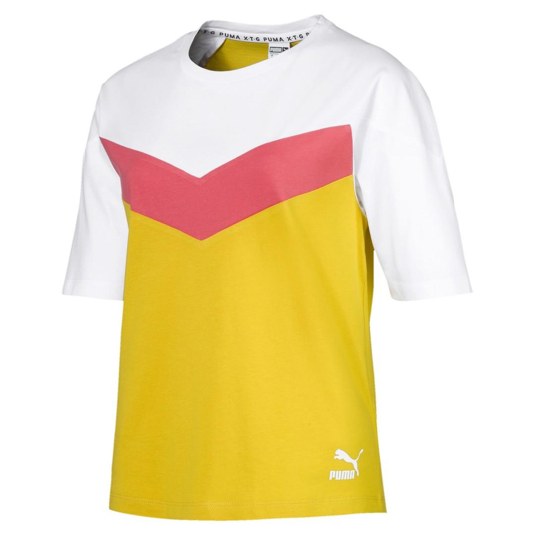 Puma XTG COLORBLOCK TEE, ženska majica, žuta
