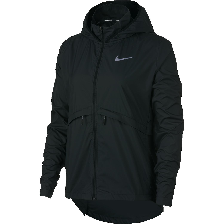 Nike W NK ESSNTL JKT HD, ženska majica za trčanje, crna
