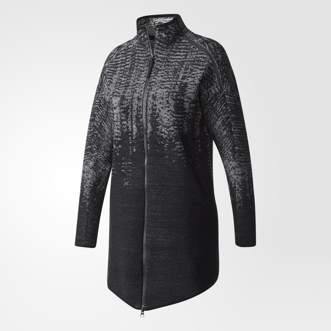 Adidas Zne Kn Pls Cvup Black, žensk jakna, crna