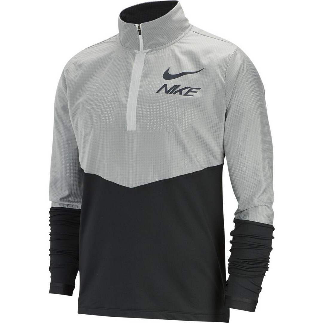 Nike M NK ELMNT TOP HZ HYBRID GX, muška majica za trčanje, crna