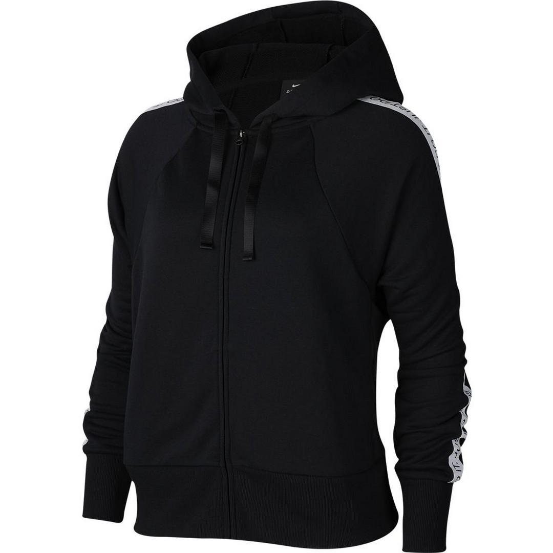 Nike W NK DRY GET FIT FLC HD FZ JDI, majica, crna