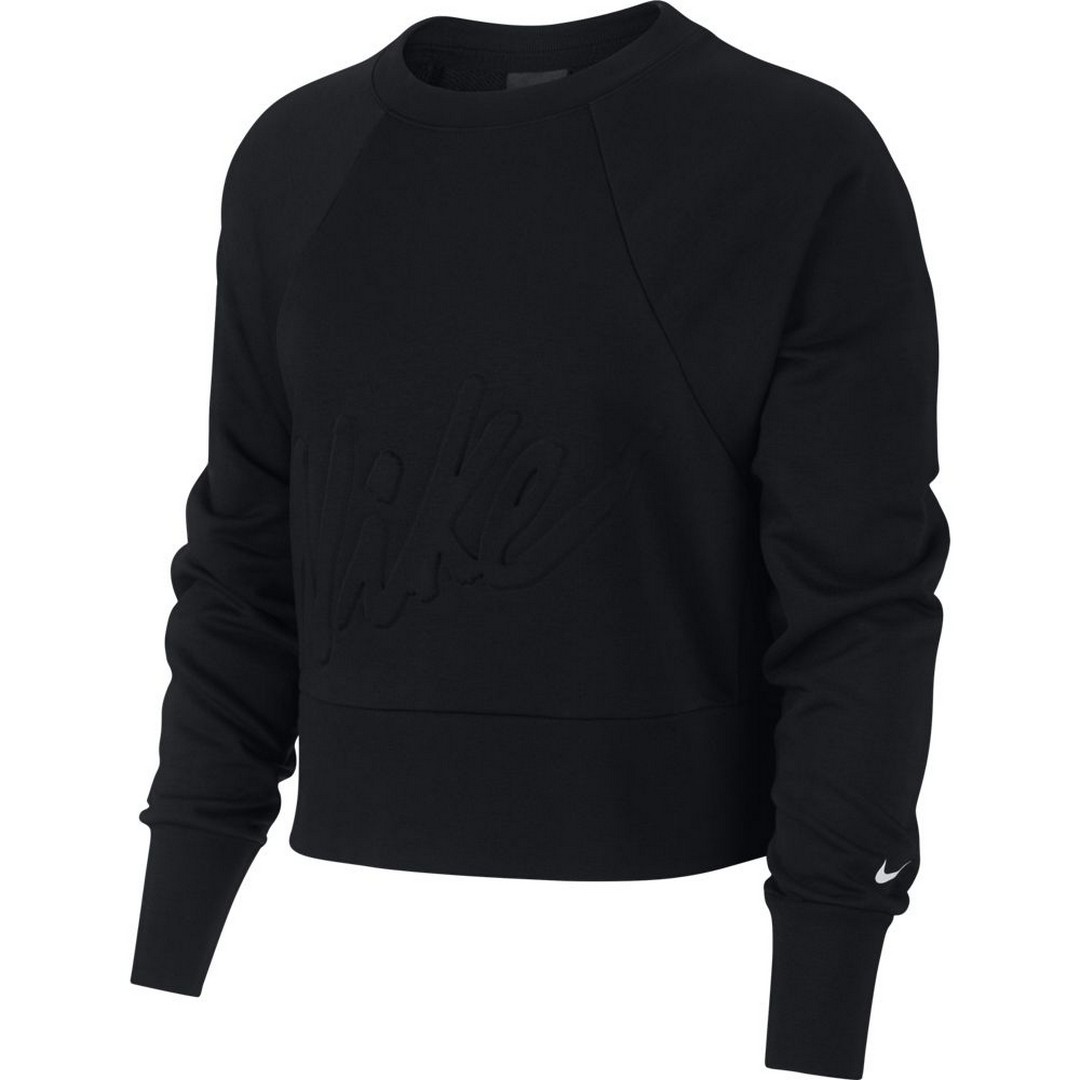 Nike W NK DRY GET FIT LUX FC CW EMB, majica, crna