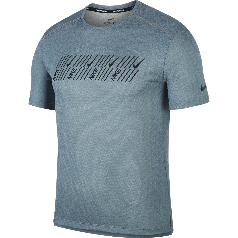 Nike M NK DF MILER TECH SS CAPSULE, muška majica za trčanje, siva
