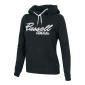 Russell Athletic LONG HOODY SWEAT WITH BIG SCRIPT, ženski  pulover, crna