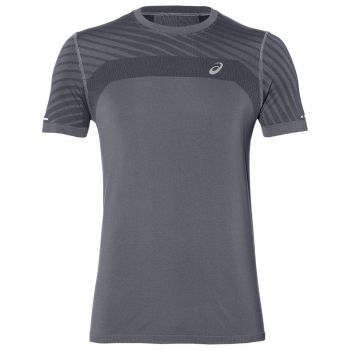 Asics SEAMLESS SS TEXTURE, muška majica za trčanje, siva