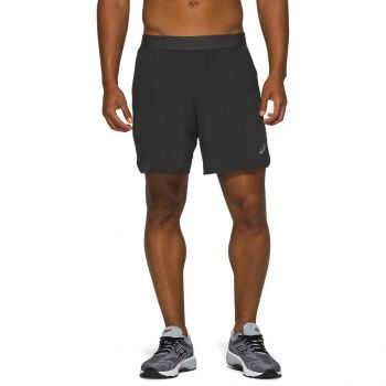 Asics ROAD 2 IN 1 7 INC SHORT, muške kratke hlače za trčanje, siva