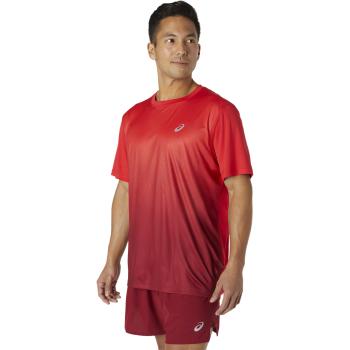 Asics KASANE SS TOP, muška majica za trčanje, crvena