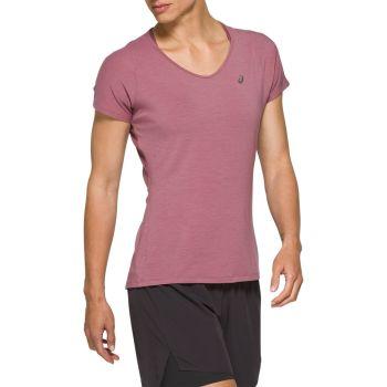 Asics V NECK SS TOP, ženska majica za trčanje, ljubičasta