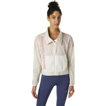 Asics RUN JACKET, ženska jakna za trčanje, bijela