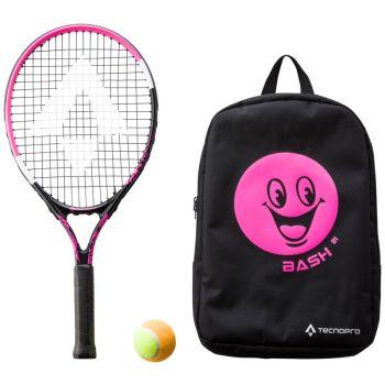Tecnopro BASH 21 W/ BACKPACK, dječji reket za tenis, crna