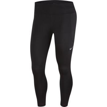 Nike W NK FAST CROP MR, ženske 7/8 hlače za trčanje, crna