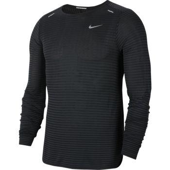 Nike M NK TECHKNIT ULTRA LS, muška majica za trčanje, crna