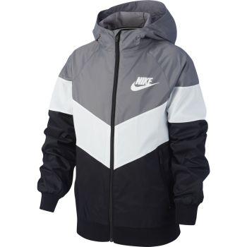 Nike SPORTSWEAR WINDRUNNER JACKET, dječja jakna za fitnes, siva