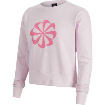 Nike W NK ICNCLSH DRY FLC PT TP GD, majica, roza