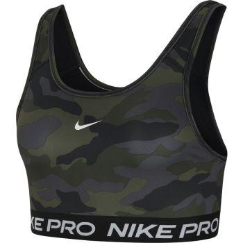 Nike SWOOSH BRA CAMO PRT, ženski sportski top, crna