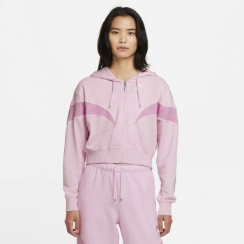 Nike AIR OVERSIZED FLEECE FULL-ZIP HOODIE, ženska jakna, roza