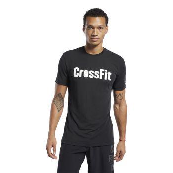 Reebok RC CROSSFIT READ TEE, muška majica za planinarenje, crna