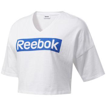 Reebok TE LINEAR LOGO GRAPHICTEE, ženska majica, bijela