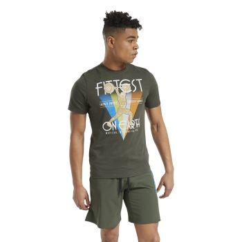 Reebok RC FITTEST ON EARTH TEE, majica, zelena