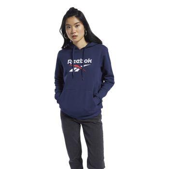 Reebok CL F BIG LOGO HOODIE FT, ženski pulover, plava