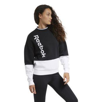 Reebok TE LINEAR LOGO CREW, ženski pulover, crna