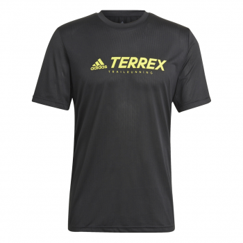 adidas TX TRAIL LOGO T, muška majica za trčanje, crna