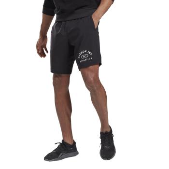 Reebok WOR WOVEN GRAPHIC SHORT, muške fitnes hlače, crna