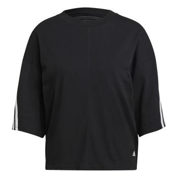 adidas W FI 3S TEE, ženska majica, crna