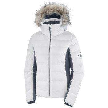 Salomon STORMCOZY JACKET W, ženska skijaška jakna, bijela