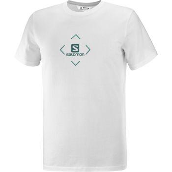 Salomon SALOMON COTTON TEE M, muška majica za planinarenje, bijela