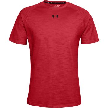 Under Armour CHARGED COTTON SS, majica, crvena