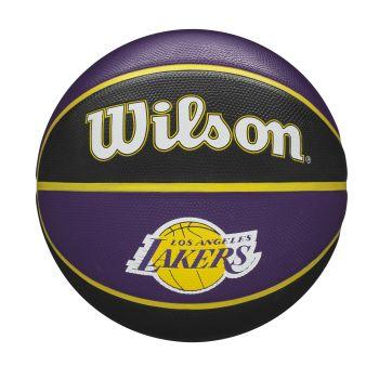 Wilson NBA TEAM TRIBUTE LA LAKERS, košarkaška lopta, ljubičasta