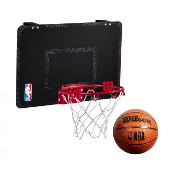 Wilson NBA FORGE TEAM MINI HOOP, tabla s obručem, crna