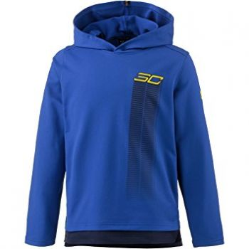 Under Armour SC30 WARM UP HOODY-RYL/MDN/TXI, dječji pulover, plava
