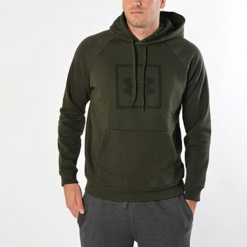 Under Armour RIVAL FLEECE LOGO HOODY, ženski pulover, zelena
