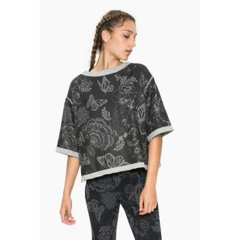 Desigual Reversible Short Sleeve Sweat, ženski pulover, uzorak