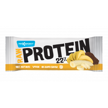 Maxsport PLOŠČICA PROTEIN/VEGAN RAW 50G JUNGLE BANANA, sportska prehrana