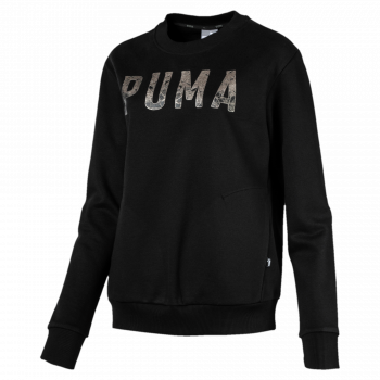 Puma PUMA ATHLETIC CREW SWEAT FL, ženski pulover, crna