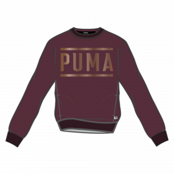 Puma PUMA ATHLETIC CREW SWEAT FL, ženski pulover, crvena