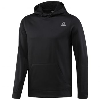 Reebok Wor Poly Fleece Hood Tech, muški pulover, crna