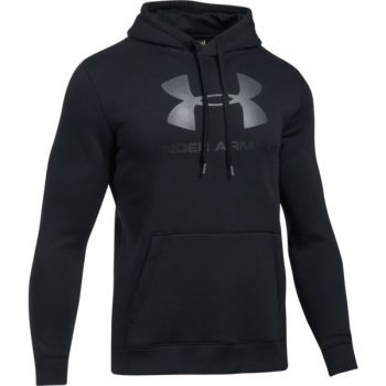 Under Armour Rival Fitted Graphic Hoodie, muški pulover, crna